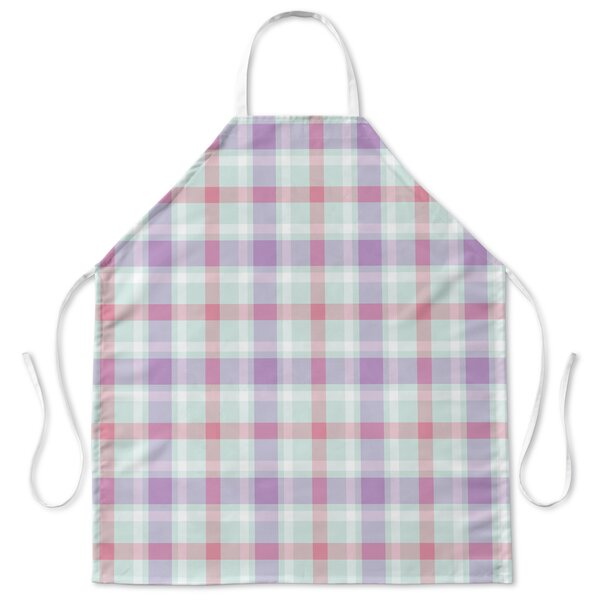 Coffee Donut Plaid Apron by Red Barrel Studio