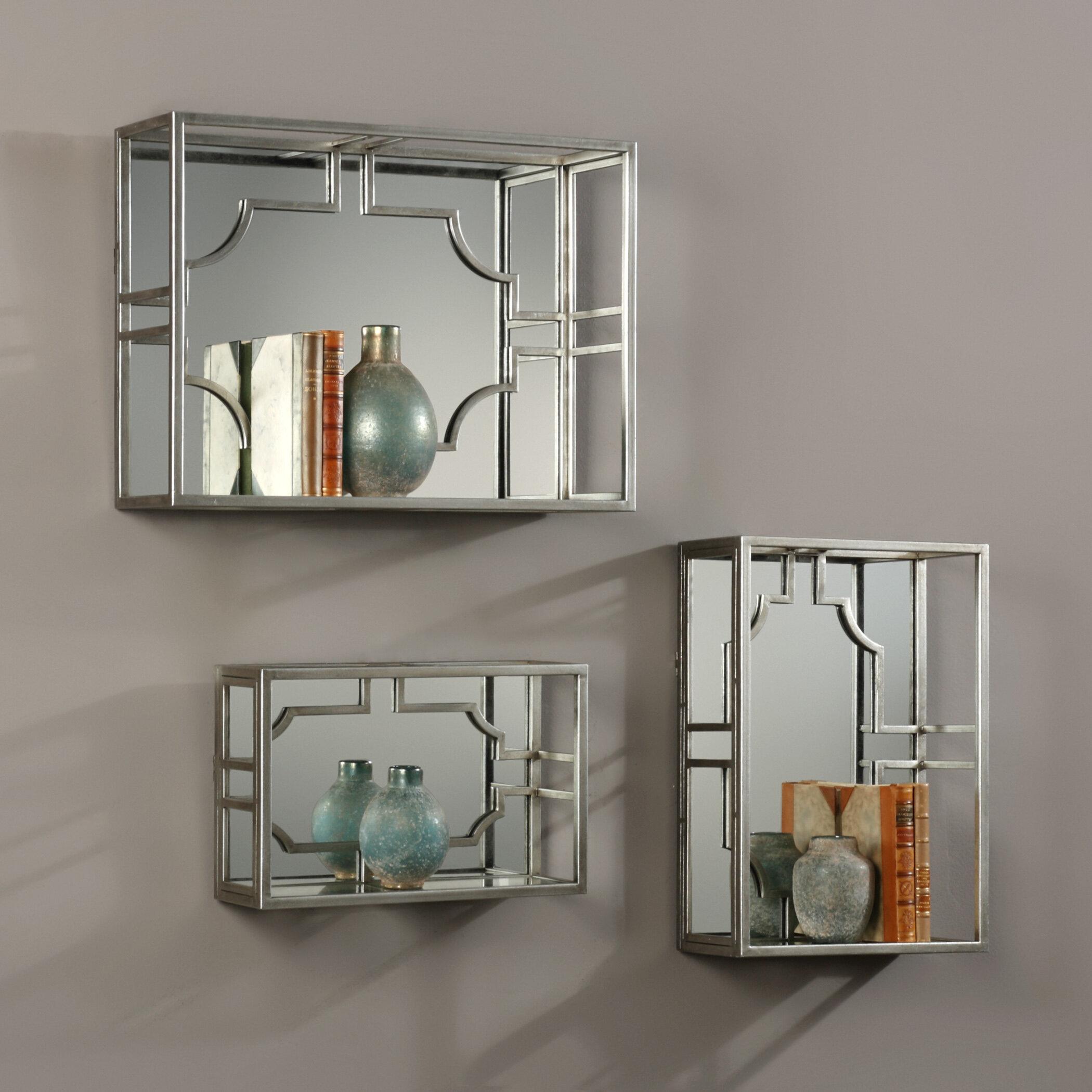 Silver 3 Piece Wall Shelf Set Joss Main