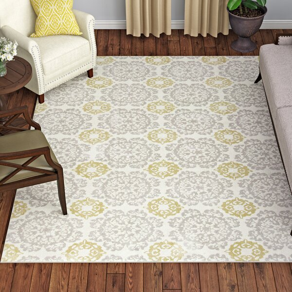 Porterdale Bailor Hand-Tufted Silver/Gold Millbridge Area Rug by One Allium Way