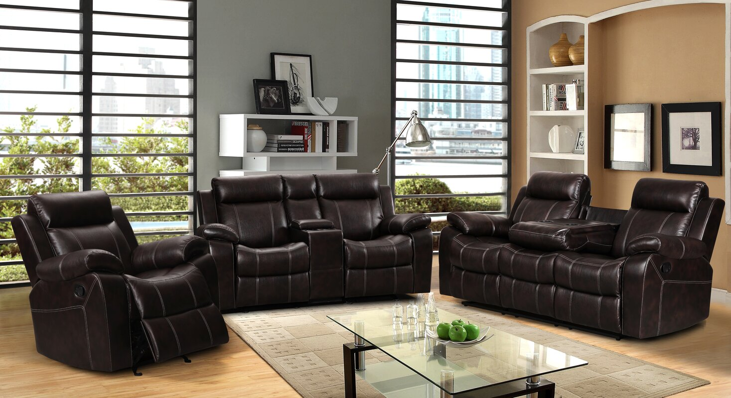 3 Piece Reclining Sofa Living Room Amusing 3 Piece