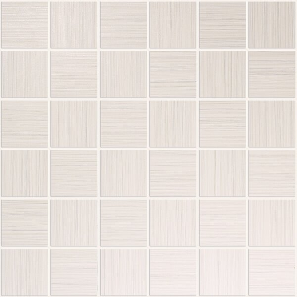 Bamboo 2 x 2 Porcelain Mosaic Tile in Creme Linen by Travis Tile Sales