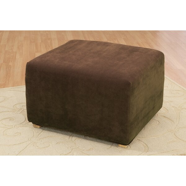 Stretch Pique Ottoman Slipcover by Sure Fit