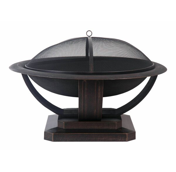 Living Accents Round Steel Charcoal Fire Pit by Northcape