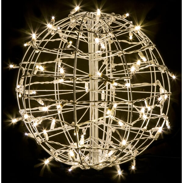 Fold Flat Sphere with 75 LED Lights by Crab Pot Christmas Trees