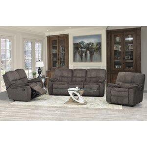 Edmonton 3 Piece Living Room Set Brassex