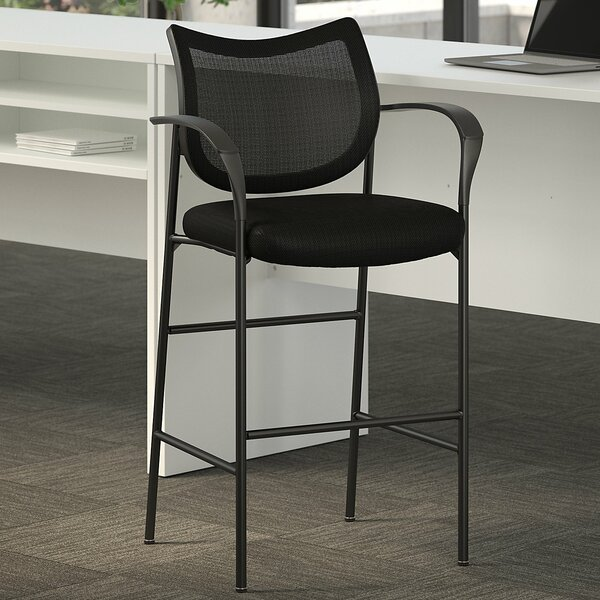 Astounding Corporate Standing Black Desk Stool By Bush Business Furniture Ncnpc Chair Design For Home Ncnpcorg
