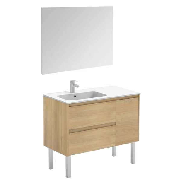 Ambra 36 Single Bathroom Vanity Set with Mirror