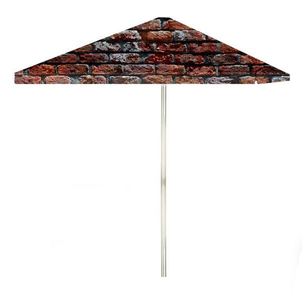 London Brick 6' Rectangular Market Umbrella by Best of Times Best of Times