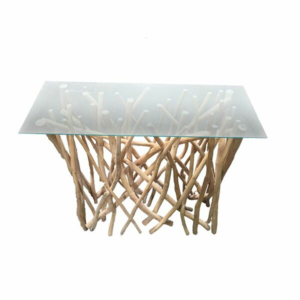 Union Rustic Glass Console Tables