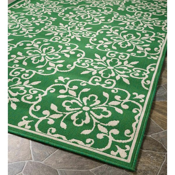 Lexington Square Medallion Green Indoor/Outdoor Area Rug by Plow & Hearth