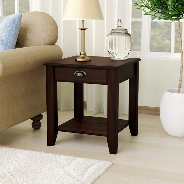 Wilfred End Table by Alcott Hill