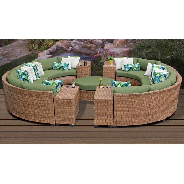 Waterbury 11 Piece Sectional Seating Group with Cushions by Sol 72 Outdoor