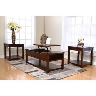 Compare prices Heatherton 3 Piece Coffee Table Set ByRed Barrel Studio