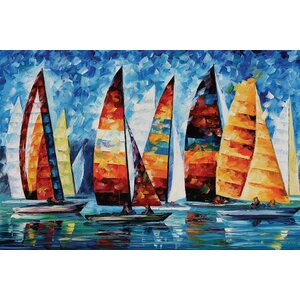 Sail Regatta Wall Art on Wrapped Canvas by Red Barrel Studio