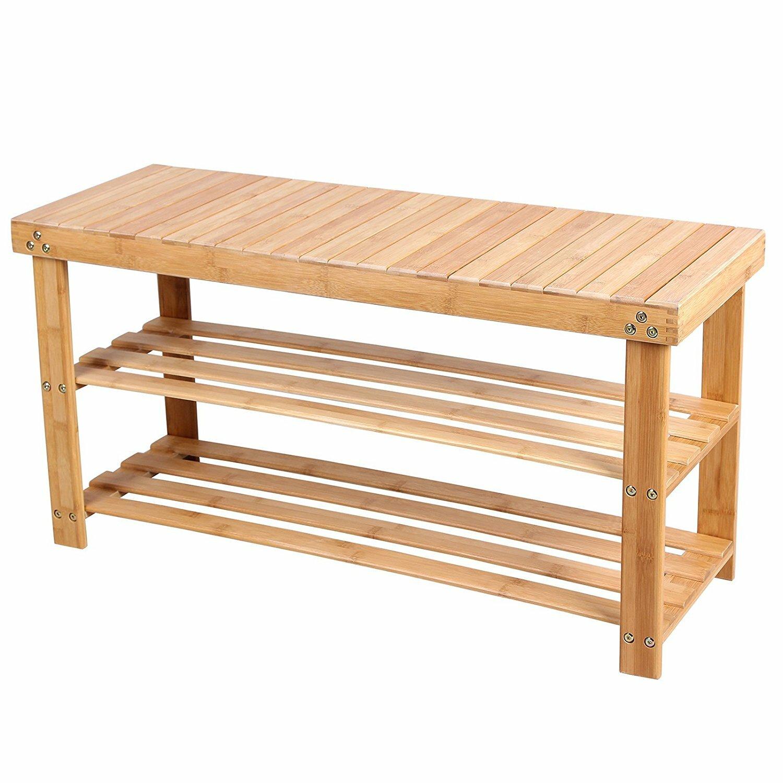 Songmics Sitzbank aus Holz mit Stauraum | Wayfair.de