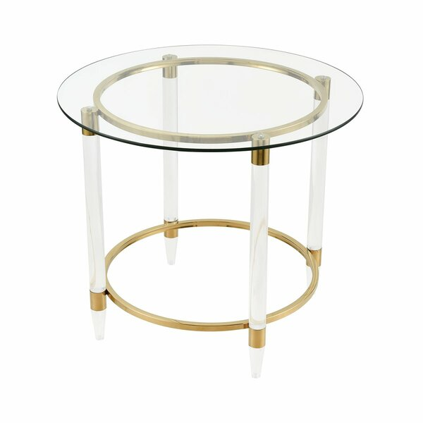 Wheatly Glass Top End Table