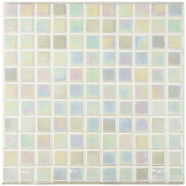 """Mother Of Pearl Mosaic Nightstand Im Obsessed: EliteTile Colgadilla Square 0.88"""" X 0.88"""" Glass Mosaic"""