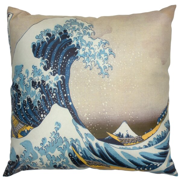 Great Wave Off Kanagawa Throw Pillow by Oriental Furniture