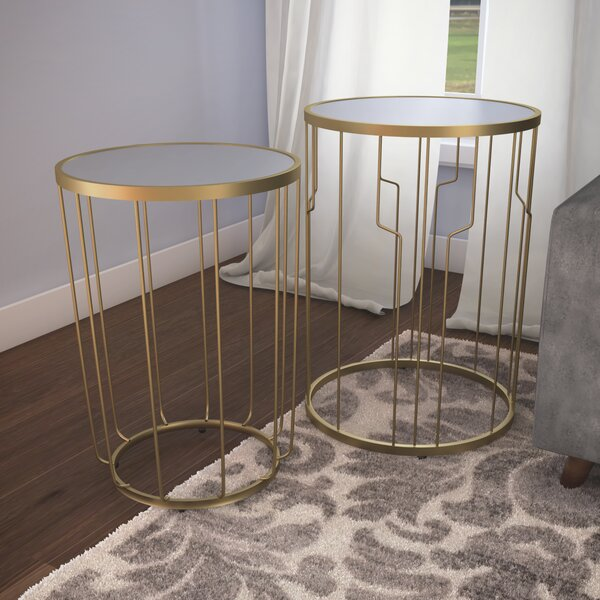 Deals Price Egham 2 Piece Nesting Table