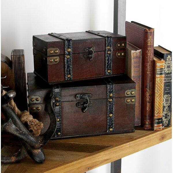LePard 2 Piece Decorative Box Set by Three Posts