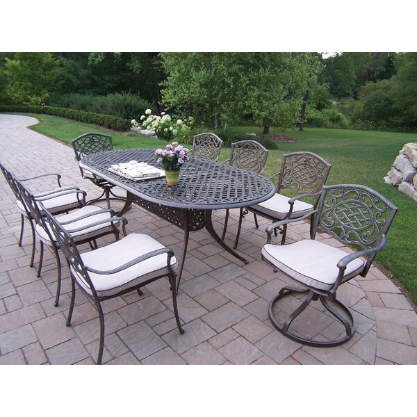 Mississippi 9 Piece Dining Set with Cushions by Oakland Living