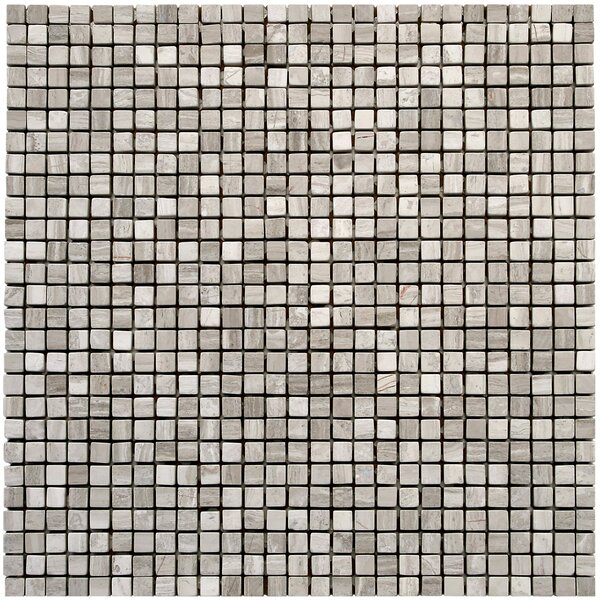 Micro 0.375 x 0.375 Marble Mosaic Tile in Haisa Light by Solistone