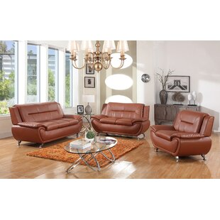 Utica Avery 3 Piece Living Room Set by Orren Ellis