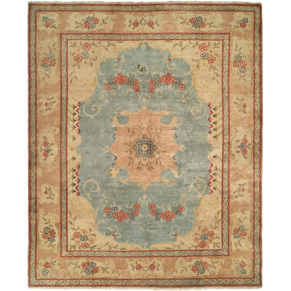 McGovern Hand Knotted Wool Blue/Ivory Area Rug by Astoria Grand