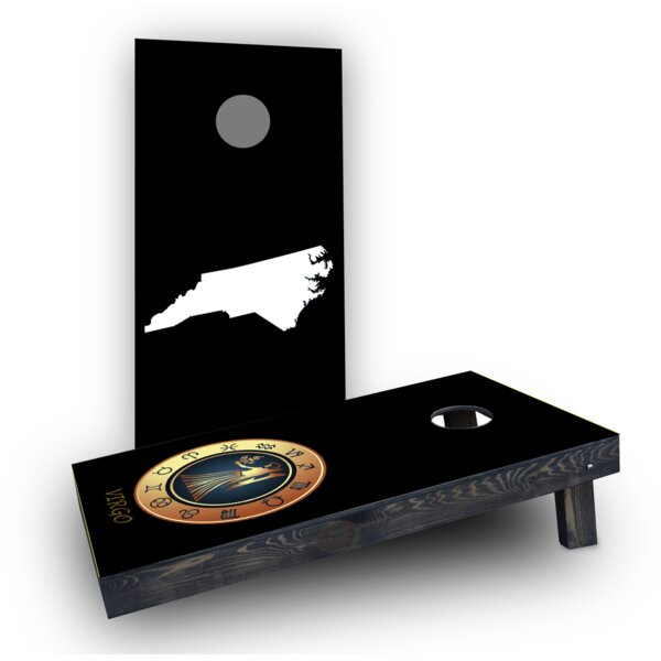 Zodiac Black Themed Cornhole Boards (Set of 2) by Custom Cornhole Boards