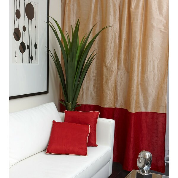 Tuscany Striped Semi-Sheer Tab Top Single Curtain Panel by Flato Home Products