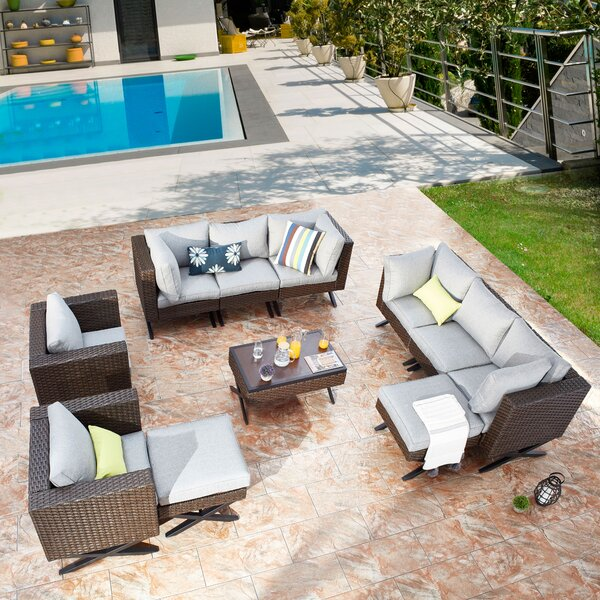Rimersburg 11 Piece Sectional Seating Group with Cushions by Latitude Run