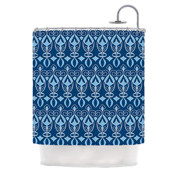 Blue Deco by Julia Grifol Shower Curtain by East Urban Home