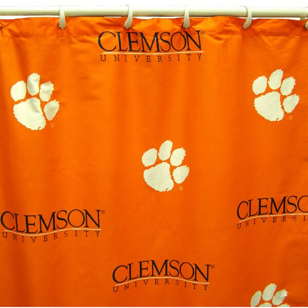 NCAA Clemson Cotton Printed Shower Curtain by College Covers