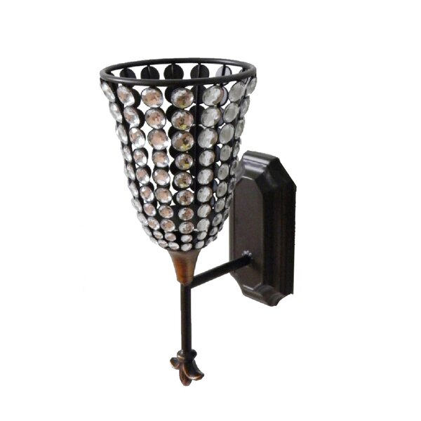 Decorative Metal Sconce by Hazelwood Home