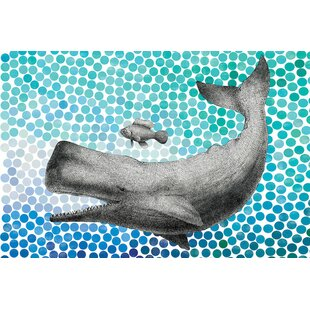 New Friends Series Whale And Fish II Graphic Art On Wrapped Canvas