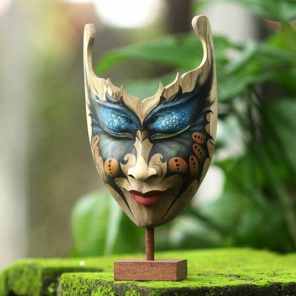 Bloomsbury Market Wong Butterfly Theme Hibiscus Wood Mask Bust Wayfair
