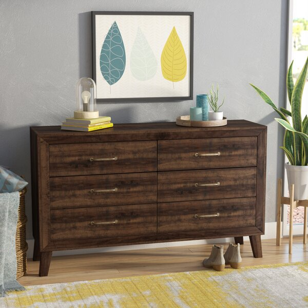 Dory 6 Drawer Double Dresser by Modern Rustic Interiors