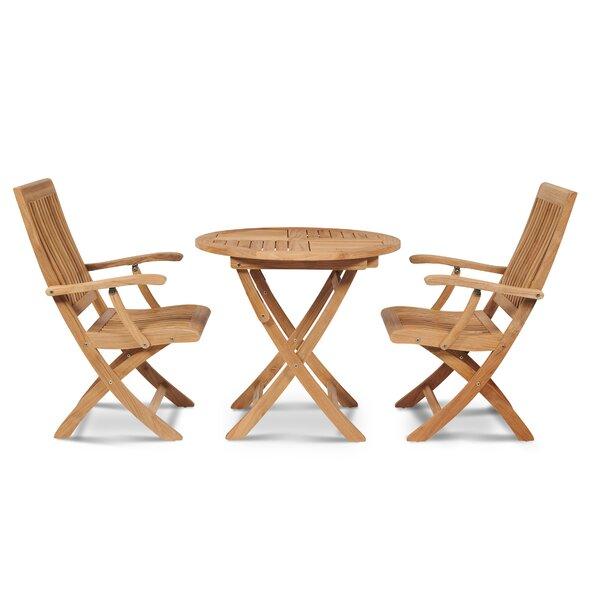 Godfrey Folding Teak Patio Dining Chair by Breakwater Bay Breakwater Bay
