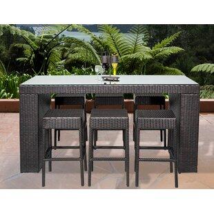 bar height patio sets wayfair rh wayfair com outdoor furniture bar table and stools outdoor bar chairs table