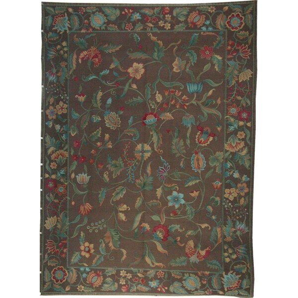 Hand Knotted Wool Brown/Blue/Green Rug