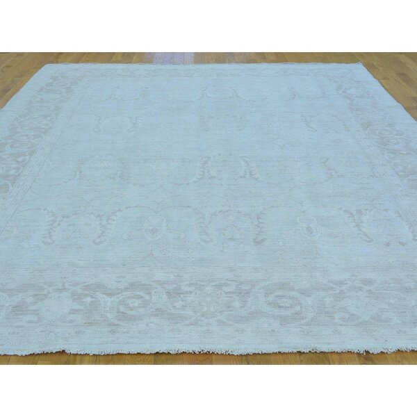 One-of-a-Kind Bearer Hand-Knotted Grey Wool Area Rug by Isabelline
