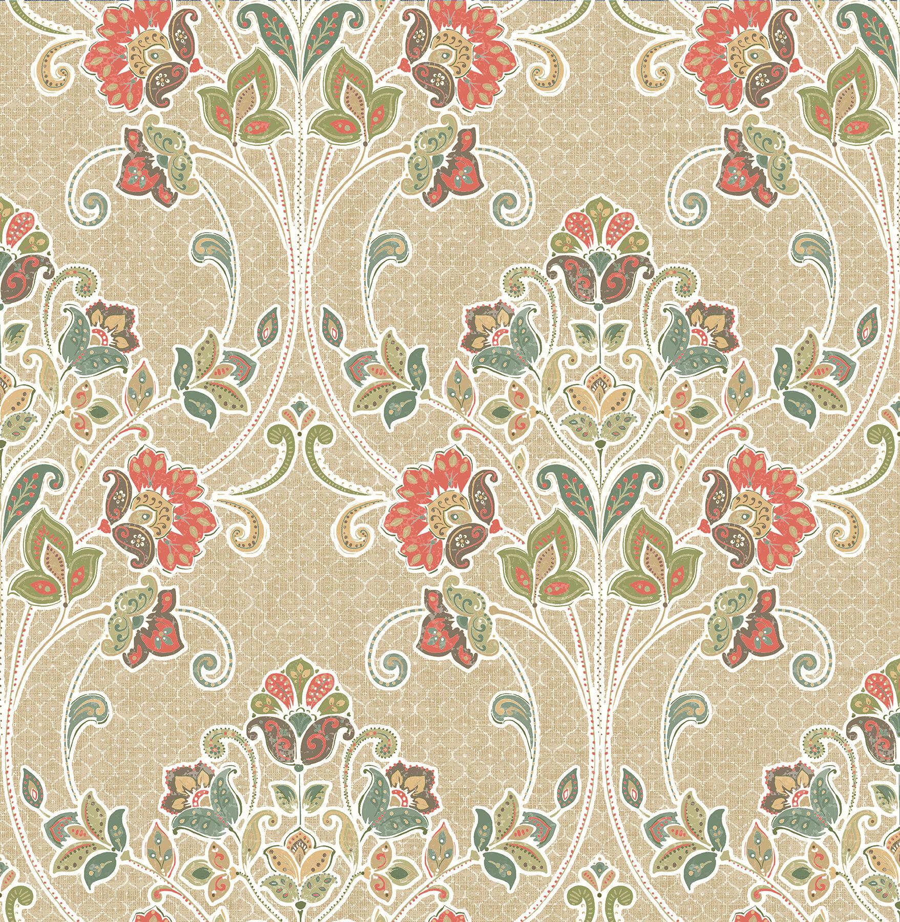 World Menagerie Elouise 33 X 20 5 Nouveau Wallpaper Roll