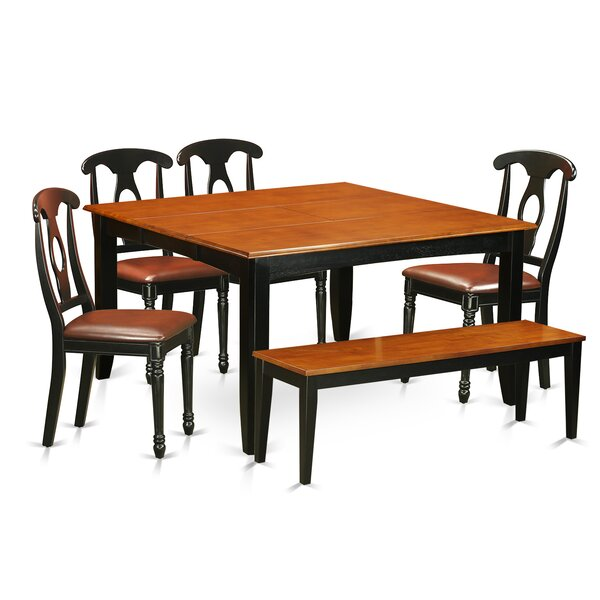 Pilning Contemporary 6 Piece Dining Set by August Grove