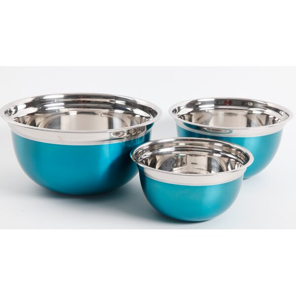 Oster 3-Piece Stainless Steel Mixing Bowl Set by Gibson