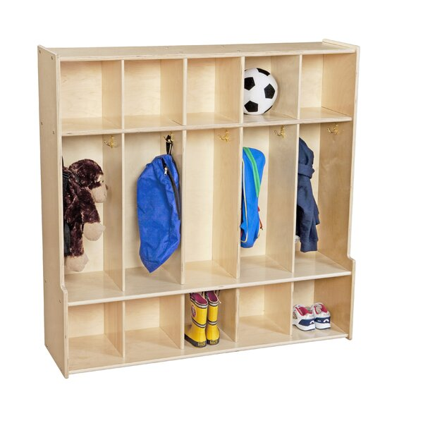 Contender 3 Tier 5 Wide Coat Locker by Wood Design