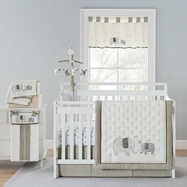 Arcola Elephant Baby Walk Crib Bedding Set (Set of