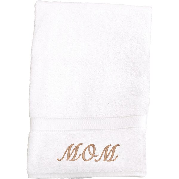 Mom Embroidered Hand Towel by Linum Home Textiles