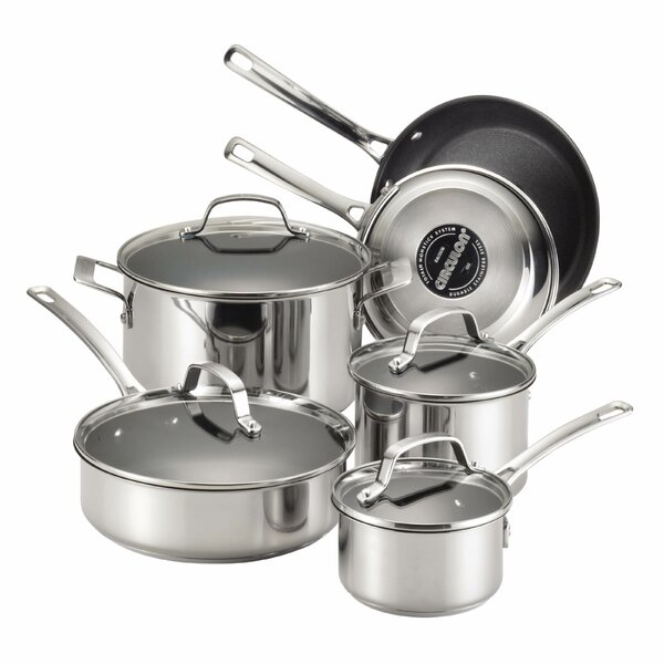 Genesis 10 Piece Non-Stick Stainless Steel Cookwar