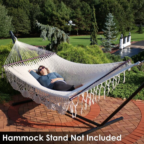 Bellefontaine Cotton Double Spreader Bar Hammock by Bungalow Rose Bungalow Rose