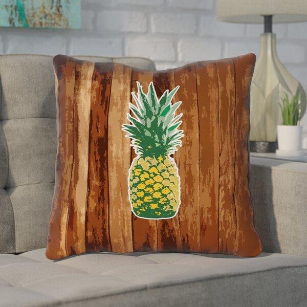 Enciso Pineapple Indoor Throw Pillow with Zipper by Brayden Studio